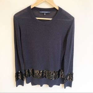 French Connection XS Fine Wool Knit Sequin Jumper